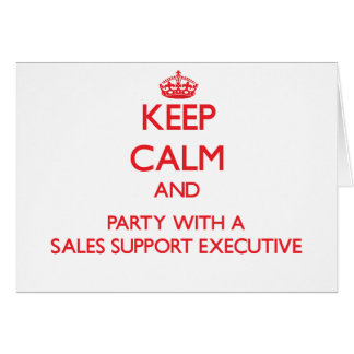 Guarde la calma y al fiesta con un ejecutivo de la tarjetas