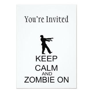 Guarde la calma y al zombi encendido comunicado personalizado