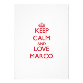 Guarde la calma y ame a Marco Anuncio
