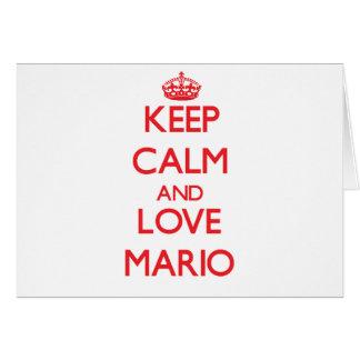 Guarde la calma y ame a Mario Felicitación