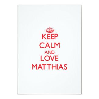 Guarde la calma y ame a Matías Invitación