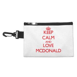 Guarde la calma y ame a Mcdonald