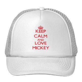 Guarde la calma y ame a Mickey Gorros