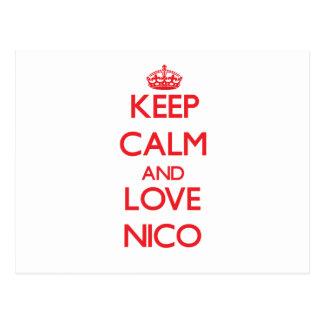 Guarde la calma y ame a Nico Postal