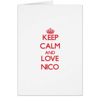 Guarde la calma y ame a Nico Tarjeton