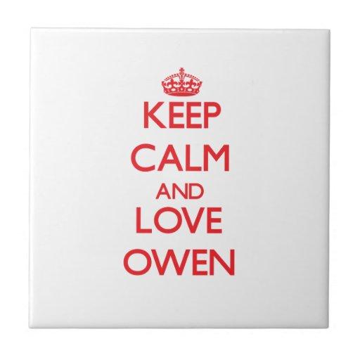 Guarde la calma y ame a Owen Teja