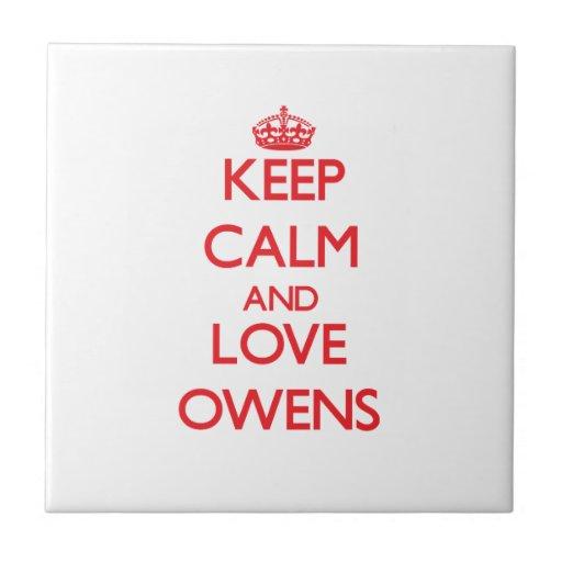Guarde la calma y ame a Owens Azulejo Ceramica