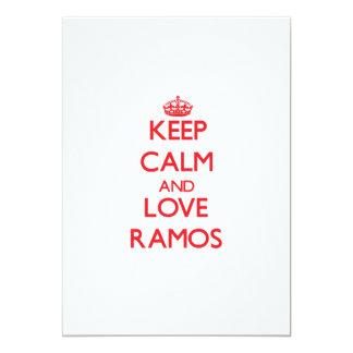 Guarde la calma y ame a Ramos Comunicados Personalizados