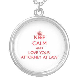 Guarde la calma y ame a su abogado en la ley collares personalizados