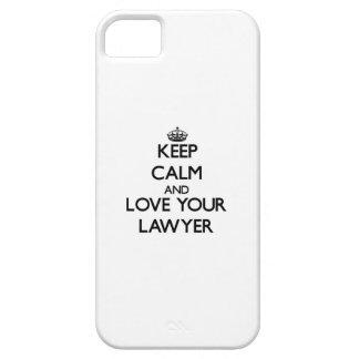 Guarde la calma y ame a su abogado iPhone 5 Case-Mate carcasa