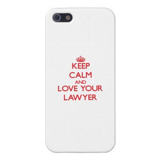 Guarde la calma y ame a su abogado iPhone 5 cárcasa