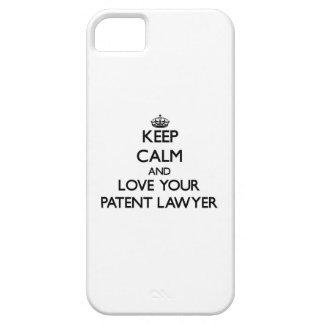 Guarde la calma y ame a su abogado patentado iPhone 5 Case-Mate funda
