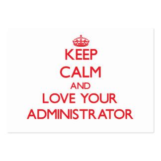 Guarde la calma y ame a su administrador