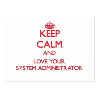 Guarde la calma y ame a su administrador de sistem