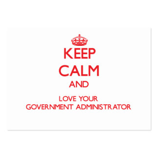 Guarde la calma y ame a su administrador del tarjetas de visita grandes