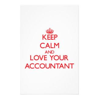 Guarde la calma y ame a su contable papelería