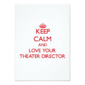 Guarde la calma y ame a su director del teatro anuncios