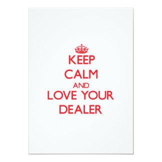 Guarde la calma y ame a su distribuidor autorizado invitacion personalizada
