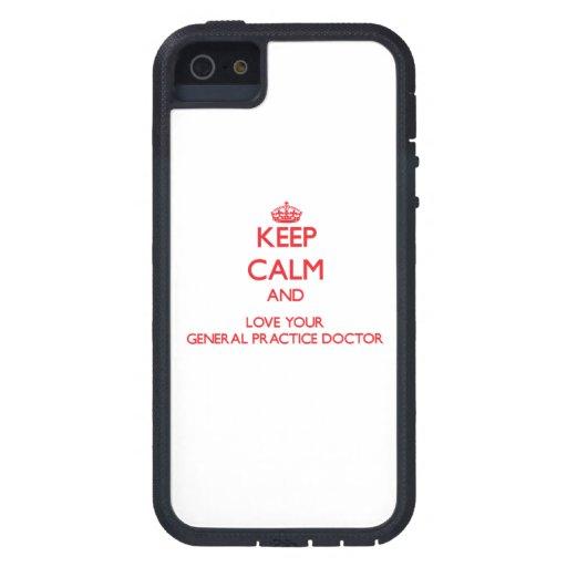 Guarde la calma y ame a su doctor de la práctica g iPhone 5 Case-Mate cárcasas