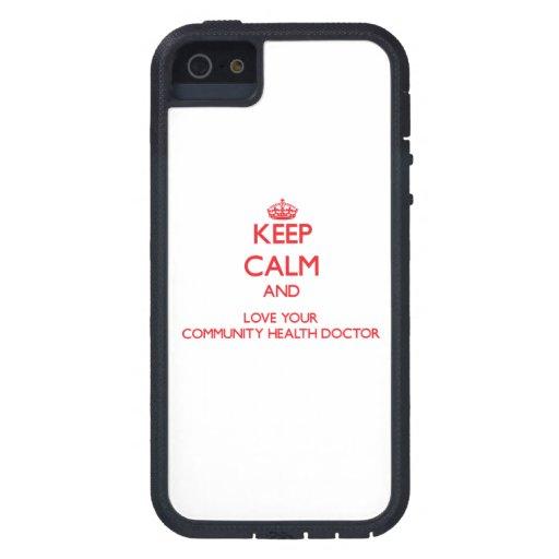Guarde la calma y ame a su doctor de la salud de l iPhone 5 Case-Mate cobertura