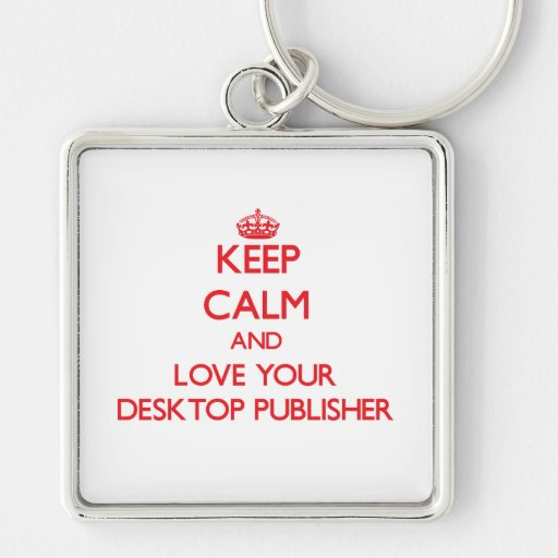 Guarde la calma y ame a su editor de escritorio llaveros