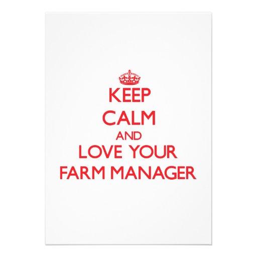 Guarde la calma y ame a su encargado de la granja comunicado personal