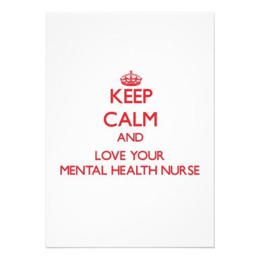 Guarde la calma y ame a su enfermera de salud ment comunicados personalizados
