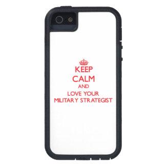 Guarde la calma y ame a su estratega militar iPhone 5 cárcasa