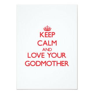 Guarde la calma y ame a su madrina comunicado personal