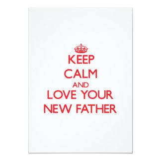 Guarde la calma y ame a su nuevo padre comunicados