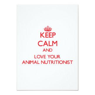 Guarde la calma y ame a su nutricionista animal anuncio personalizado