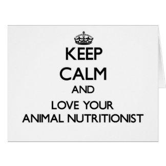 Guarde la calma y ame a su nutricionista animal