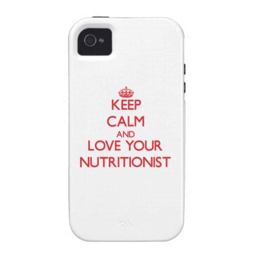 Guarde la calma y ame a su nutricionista Case-Mate iPhone 4 carcasa