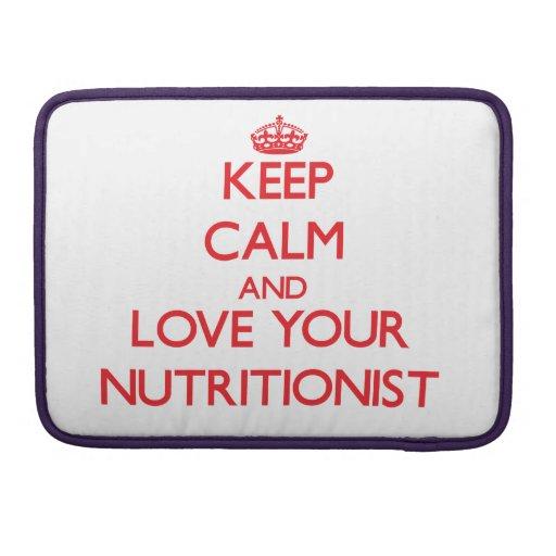 Guarde la calma y ame a su nutricionista fundas para macbook pro