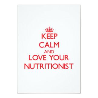 Guarde la calma y ame a su nutricionista comunicado