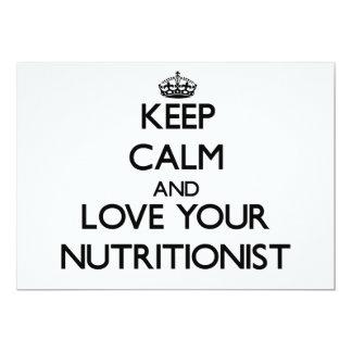Guarde la calma y ame a su nutricionista invitacion personalizada