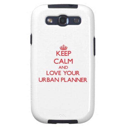 Guarde la calma y ame a su planificador urbano samsung galaxy s3 funda