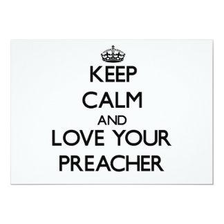 Guarde la calma y ame a su predicador invitacion personal