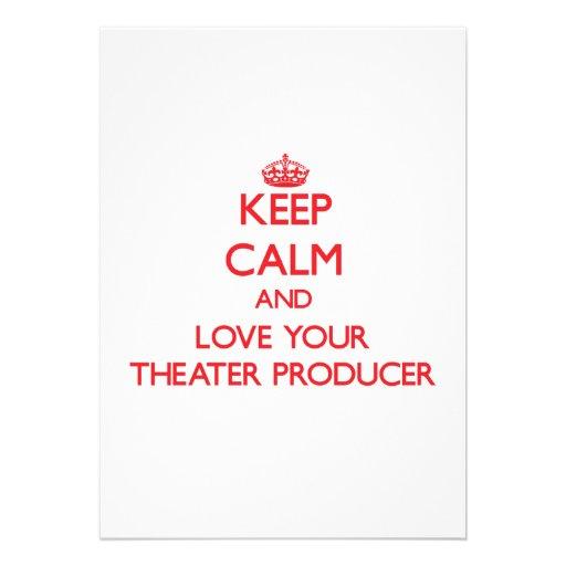 Guarde la calma y ame a su productor del teatro anuncios personalizados