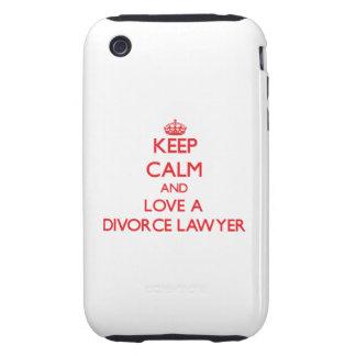 Guarde la calma y ame a un abogado de divorcio iPhone 3 tough funda