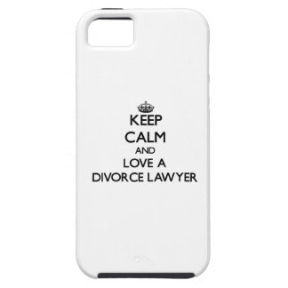 Guarde la calma y ame a un abogado de divorcio iPhone 5 Case-Mate protectores