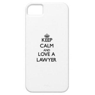 Guarde la calma y ame a un abogado iPhone 5 carcasas
