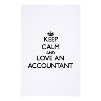 Guarde la calma y ame a un contable  papeleria