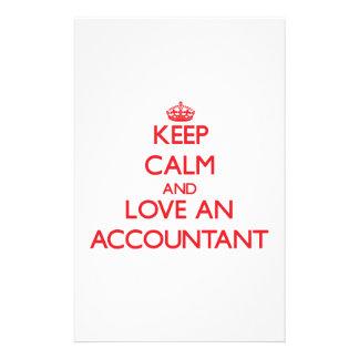 Guarde la calma y ame a un contable  papeleria de diseño