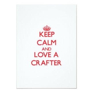 Guarde la calma y ame a un Crafter Comunicados Personalizados
