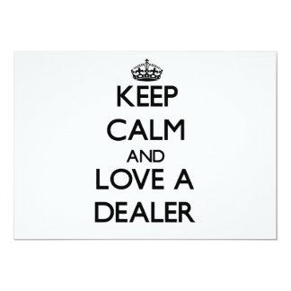 Guarde la calma y ame a un distribuidor autorizado invitación 12,7 x 17,8 cm