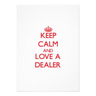 Guarde la calma y ame a un distribuidor autorizado invitaciones personalizada