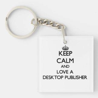 Guarde la calma y ame a un editor de escritorio llavero