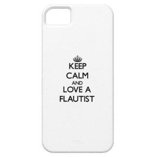 Guarde la calma y ame a un flautista iPhone 5 cobertura