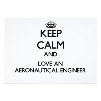 Guarde la calma y ame a un ingeniero aeronáutico invitaciones personales